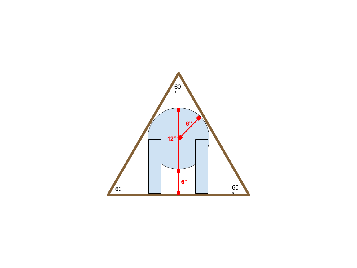 Isosceles triangle in real life nachos png. Find altitude of equilateral