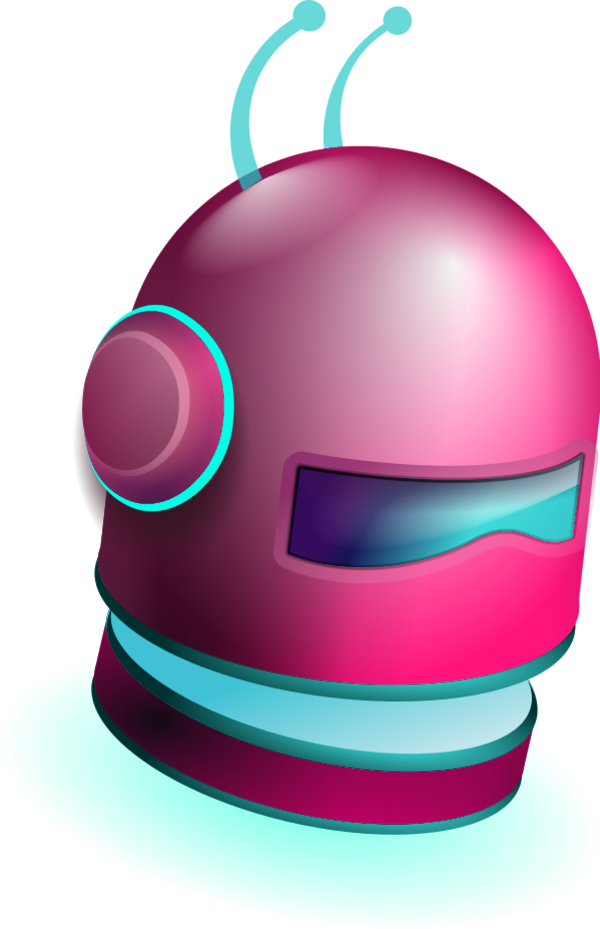 It vector. Robot head with two