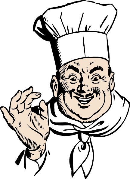 Animated chef png. Free italian clipart download