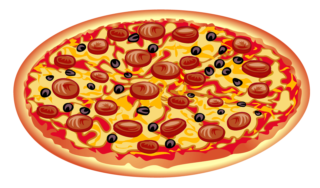 Pepperoni transparent pizza