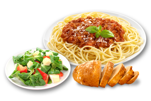 Italian dinner png. Menus for weekly events