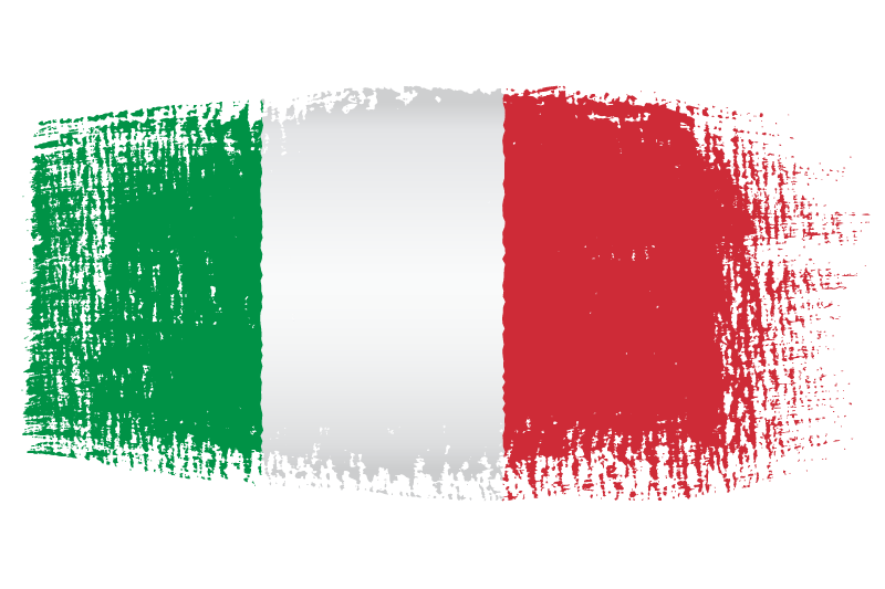 Italian flag png. Brush effect transparent stickpng