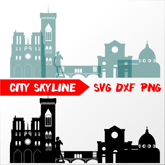 Italy clipart skyline. Florence vector svg silhouette