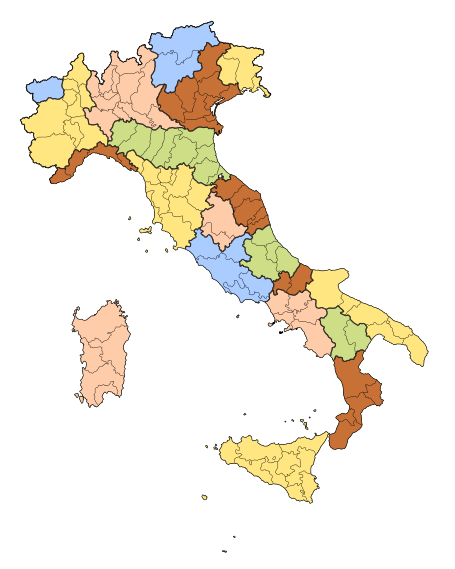 Italy country png. Regions of wikipedia