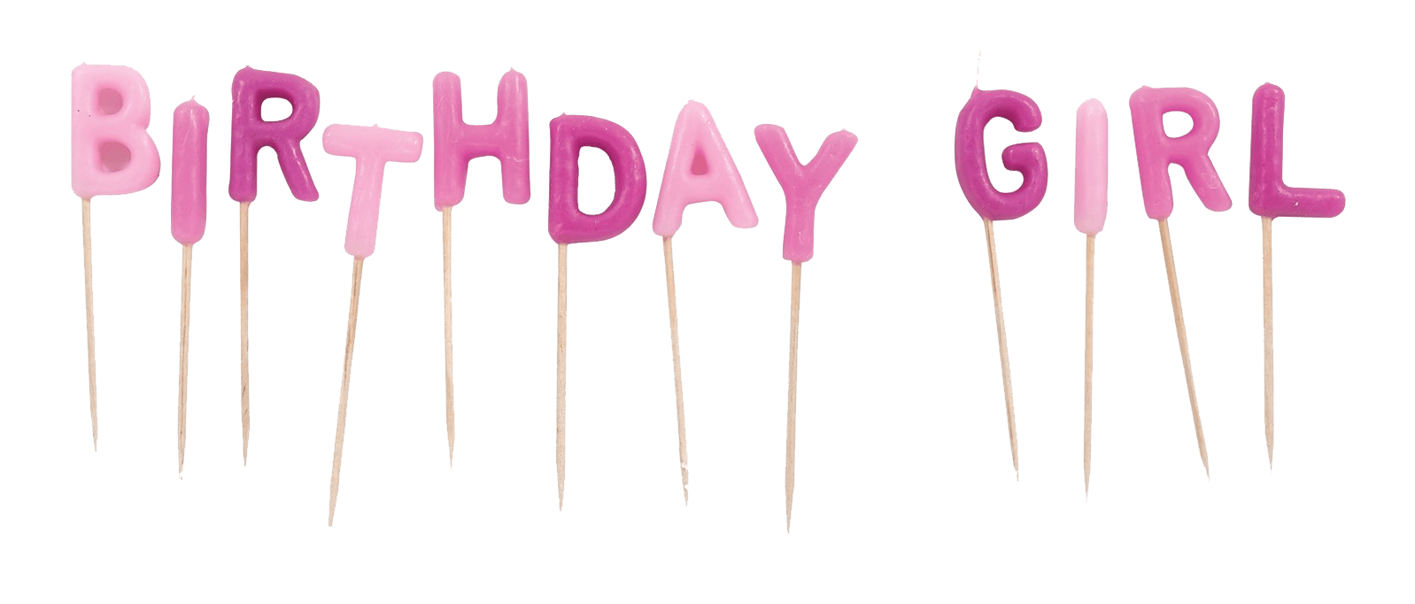 It's a girl banner png. Birthday candles transparent stickpng