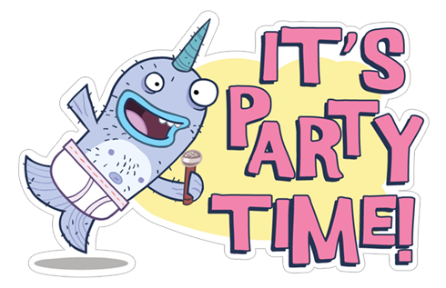 Its a party png. Transparent time