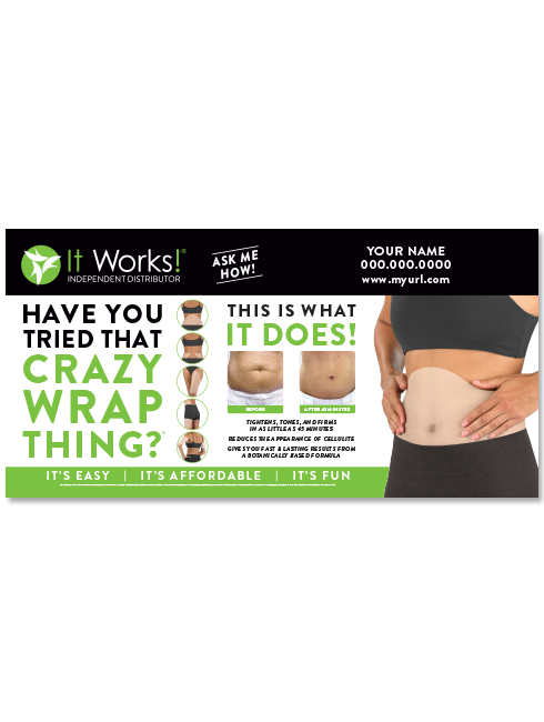 Itworks logo vinyl banner png. Crazy wrap it works