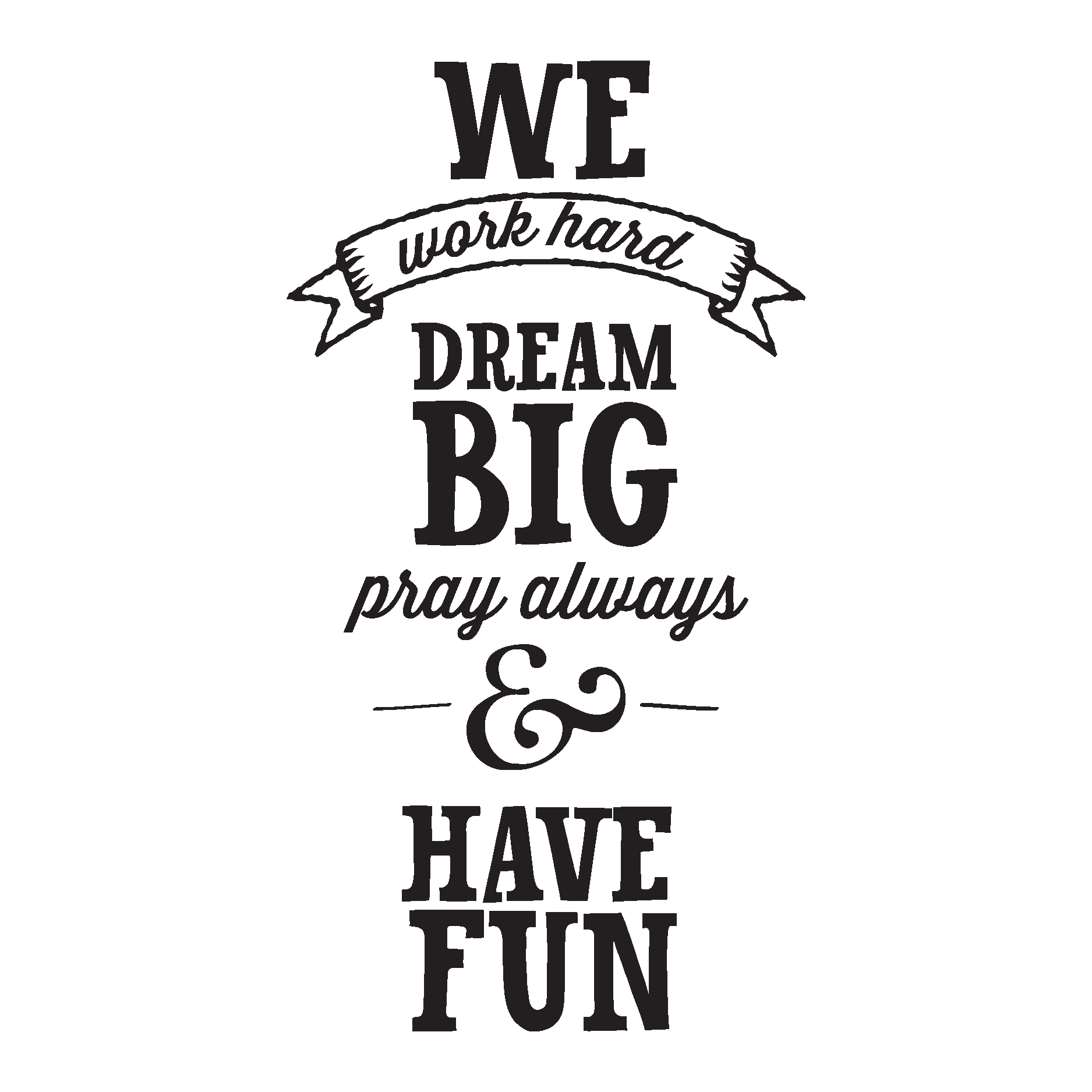 Itworks logo vinyl banner png. We work hard dream
