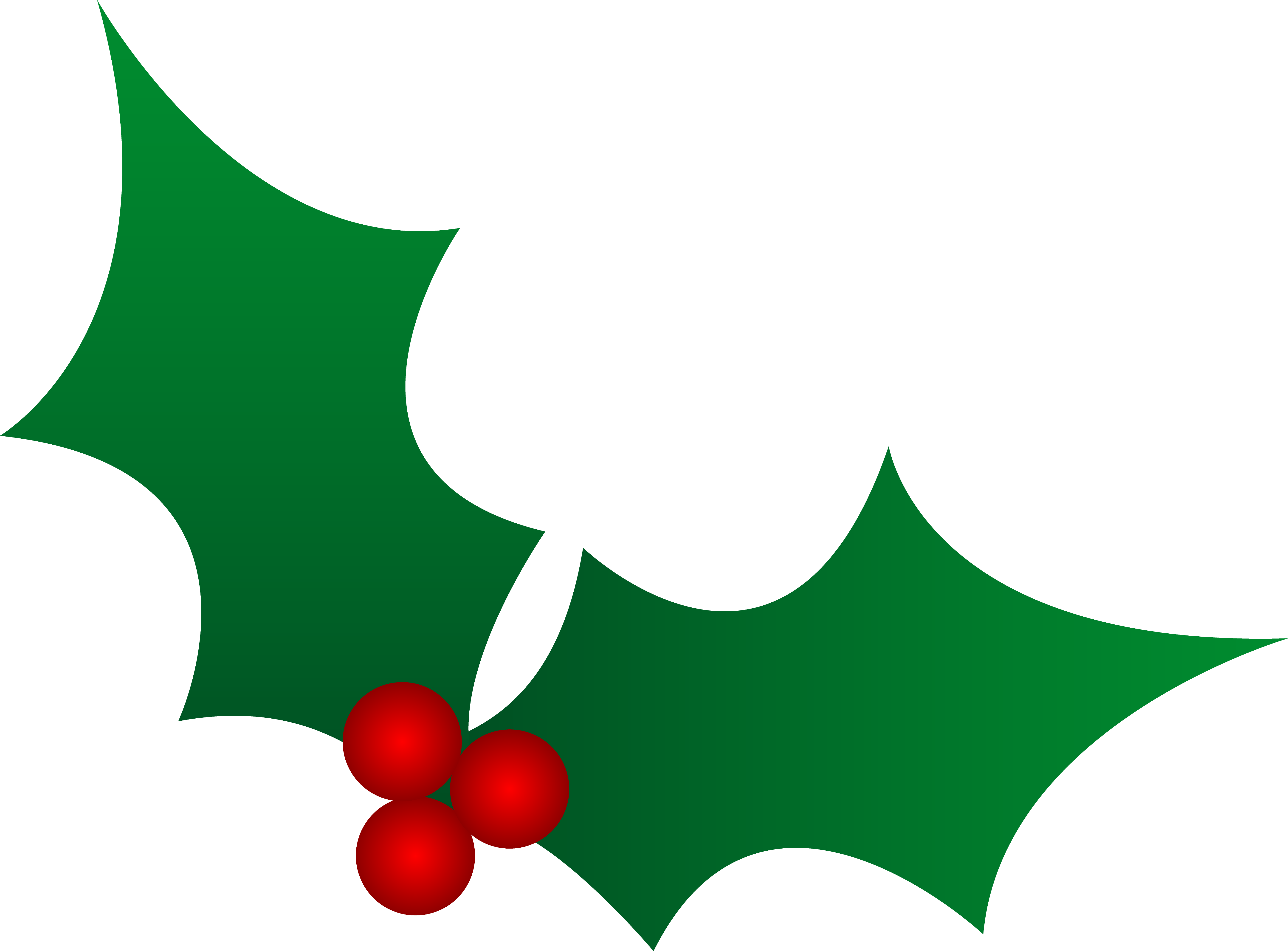 Transparent holly and ivy. Green christmas clip art