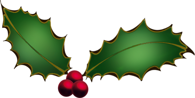 Holly clipart png. Free christmas graphics download