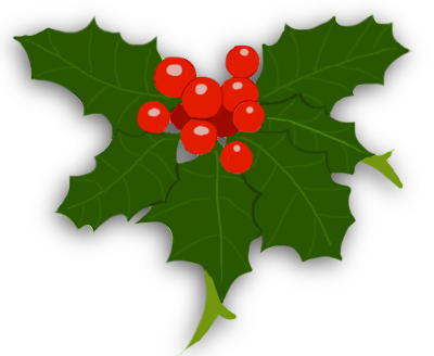 Ivy clipart holiday. Holly and png transparent