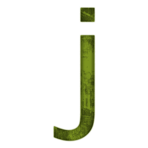 J transparent green. Letter icons png vector