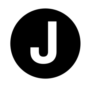J vector letter. White clip art at