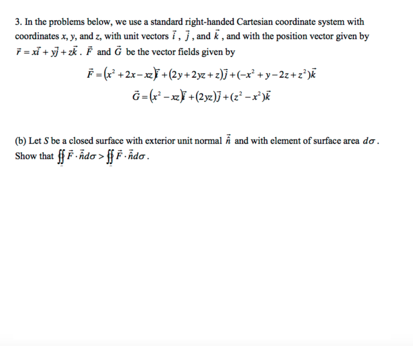 J vector standard. Solved note the inequality