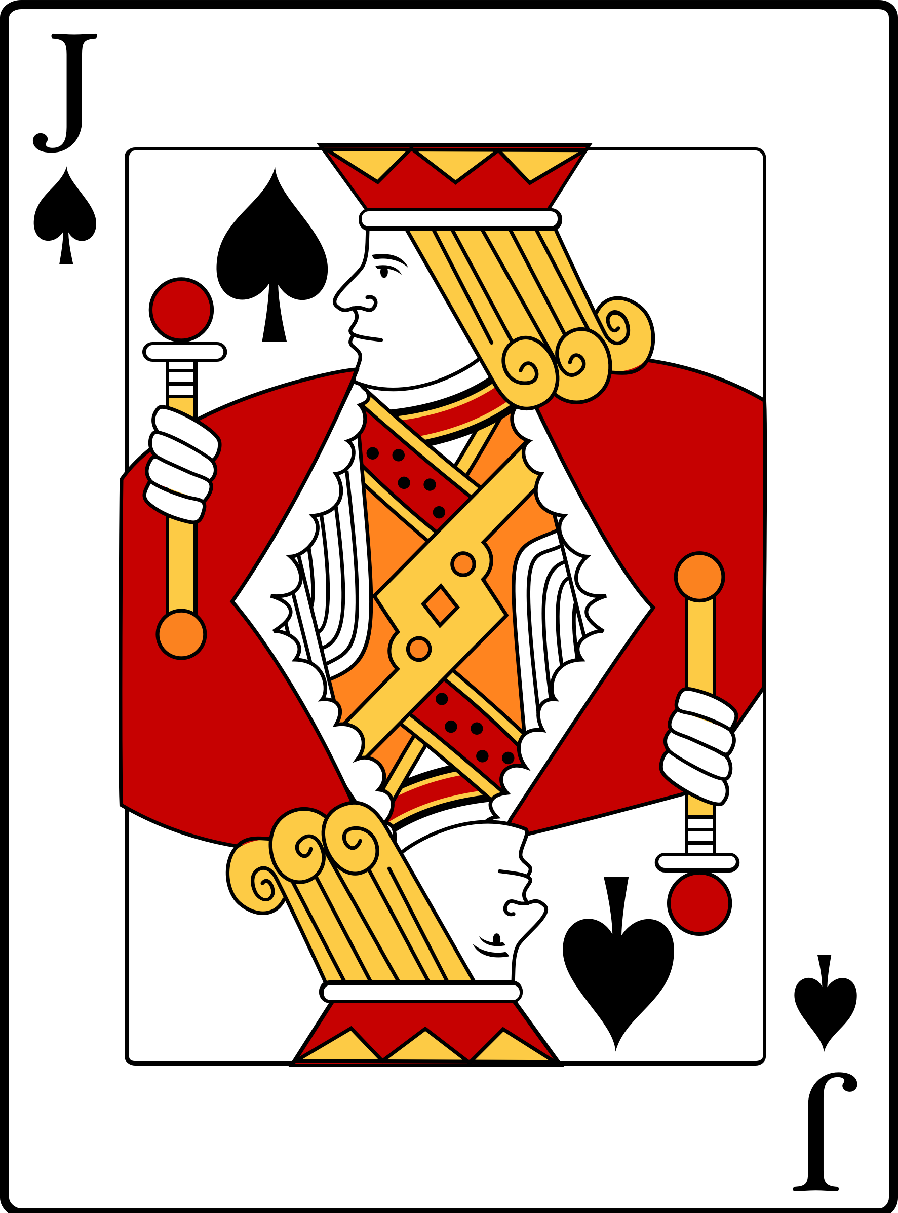 Jack clipart. Of spades