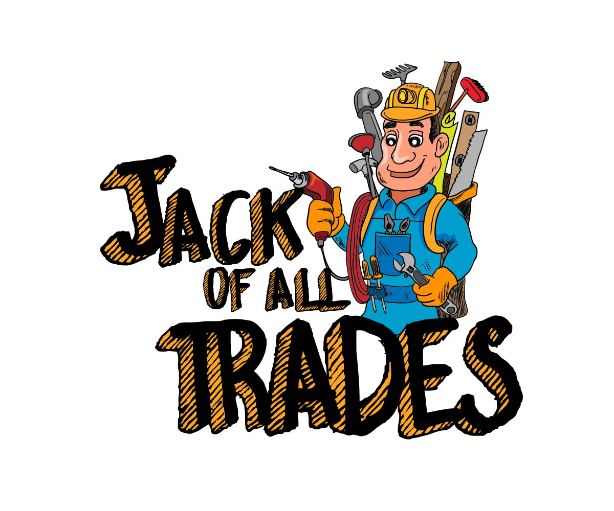 Jack clipart all trade. Masculine playful handyman logo