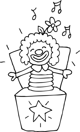 Jack clipart drawing. Colorable in the box
