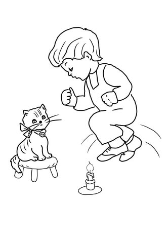 Jack clipart jack be nimble. Quick coloring page free