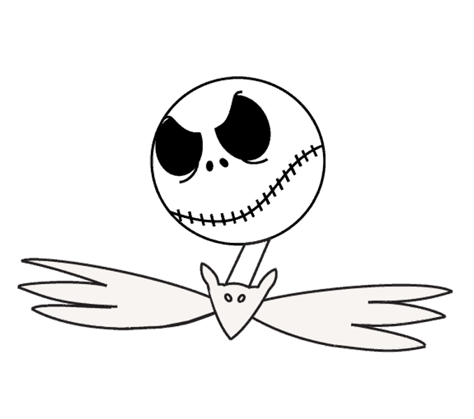 Jack drawing. How to draw skellington