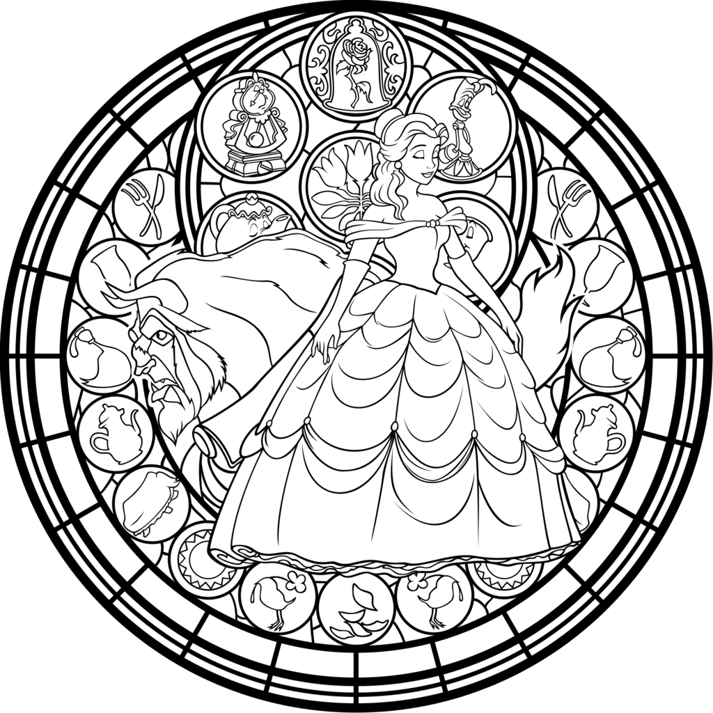 Jack drawing beauty and the beast. Adult coloring pages