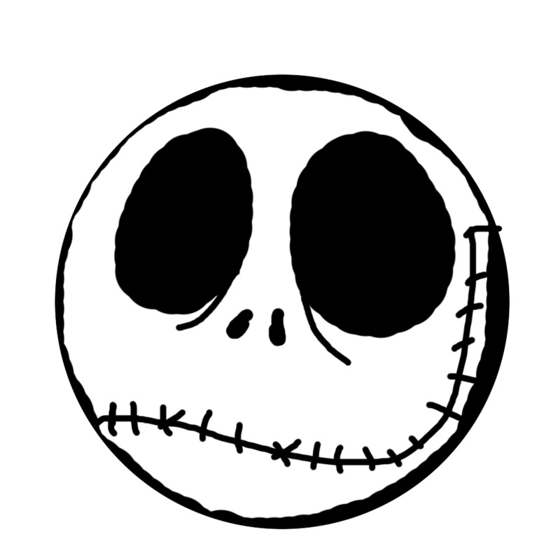 Jack skellington face png. Collection of head