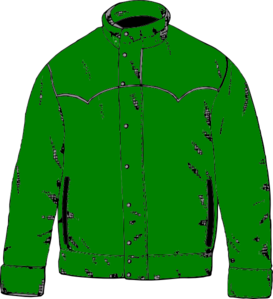 Green clip art at. Jacket clipart graphic freeuse stock