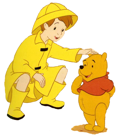 Jacket clipart rainy. Christopher robin in his