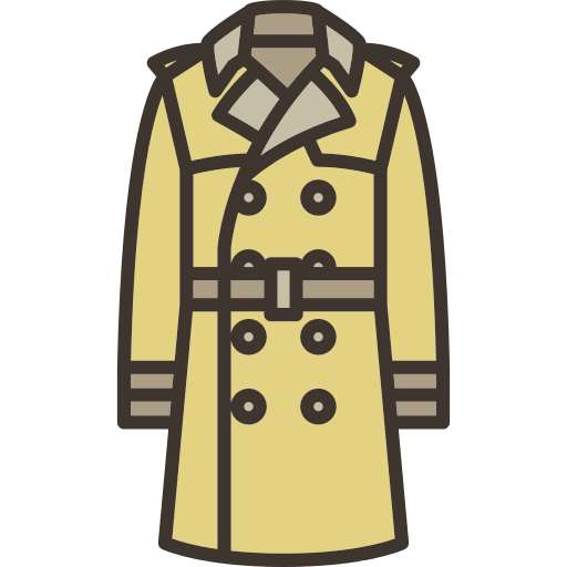 Jacket clipart trench coat. Png icon repo free