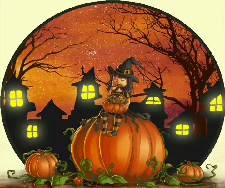Jackolantern clipart potluck. Cure witch halloween pinterest