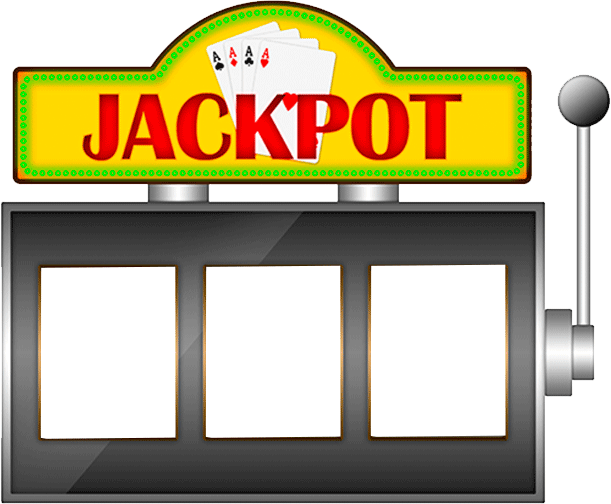 Jackpot drawing slot machine. Graphic free stock download