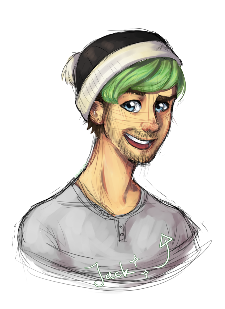 Acting drawing portrait. Fanart jacksepticeye by literalrabbit