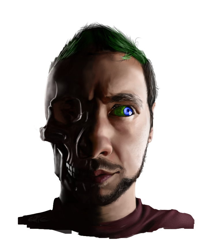 Jacksepticeye png. Portrait by monstertooth on