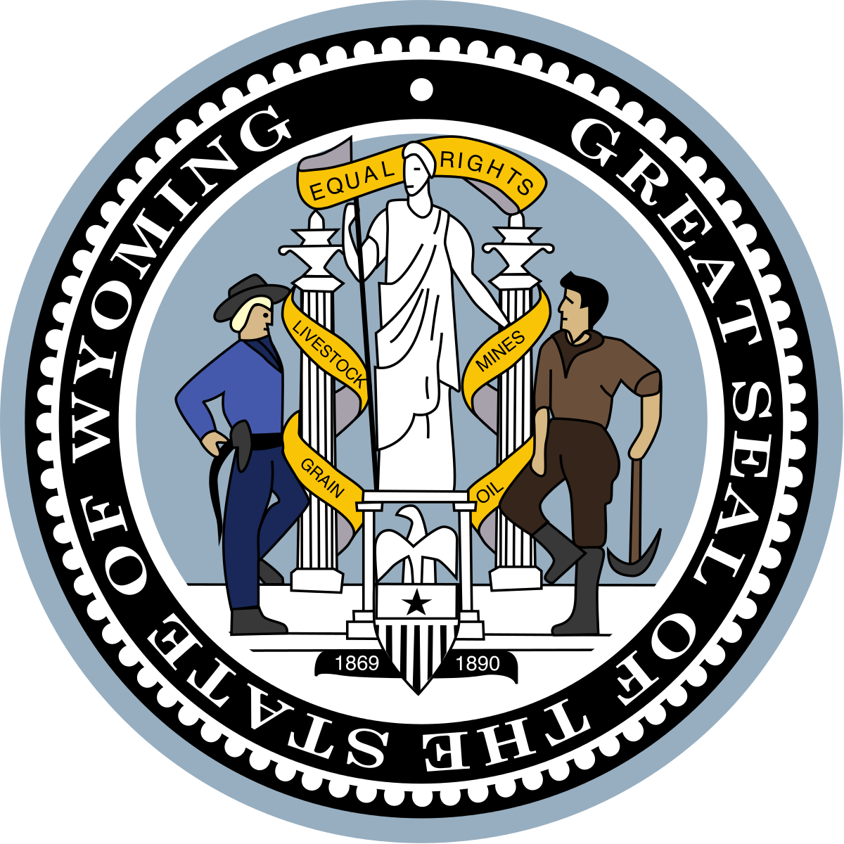 Jackson state crest png. Seal of wyoming wikipedia