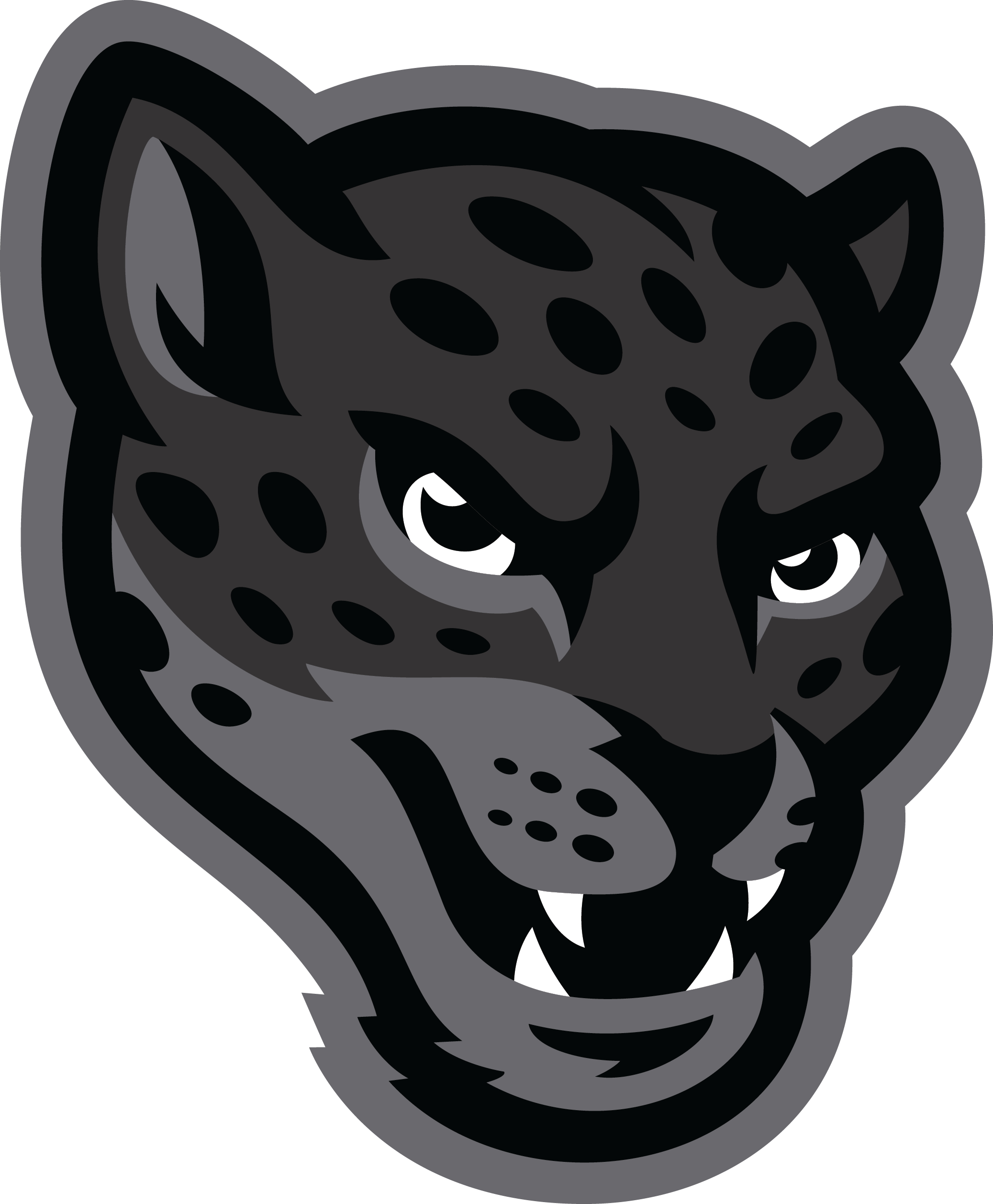 Jaguar transparent mascot. Image library huge