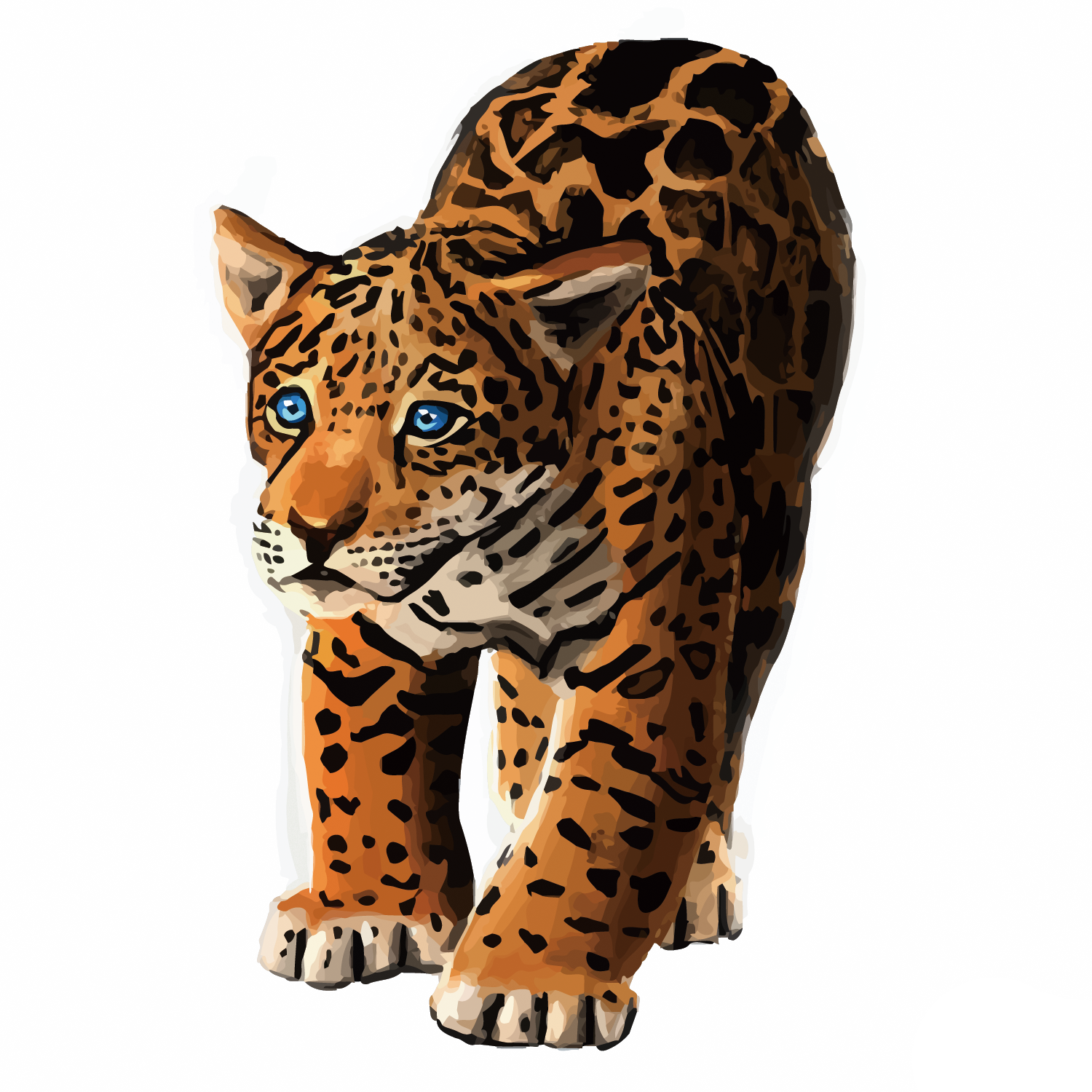 Jaguar transparent vector. Leopard tiger black panther