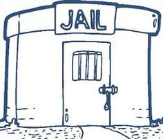Jail clipart. Empty cell clip art