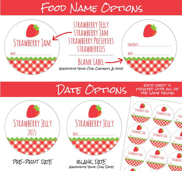 Jam clipart strawberry jelly. Gingham canning labels for