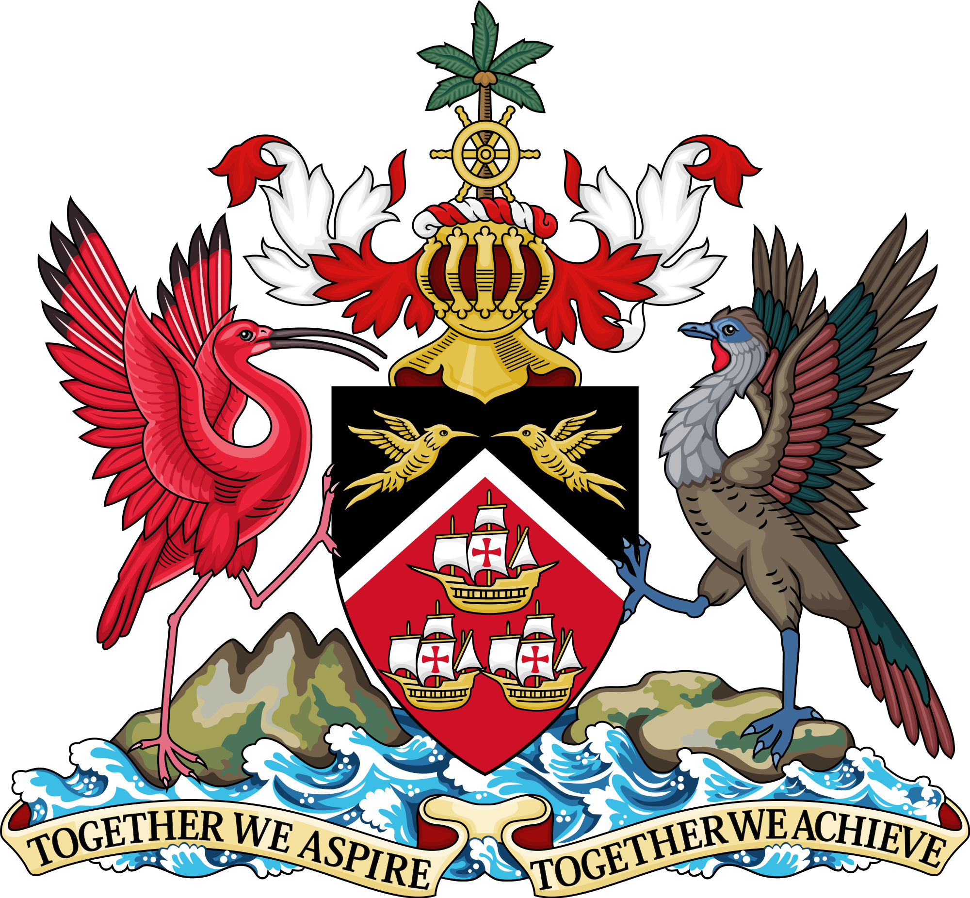 trinidad coat of arms png