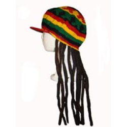 Rasta hat with dreads png. Mexitraders gear tam cap