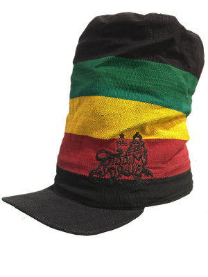 Big cap blk ryg. Rasta hat with dreads png graphic