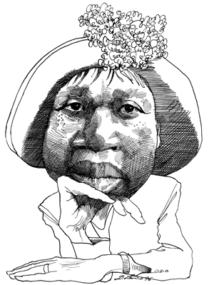 Jamaican drawing artist. Jamaica kincaid caricatures by