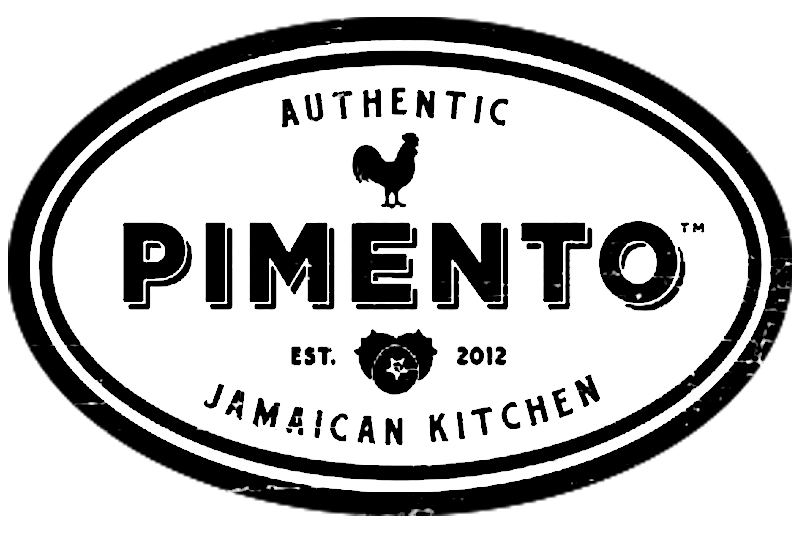 Jamaican drawing logo. Home pimento kitchen rum