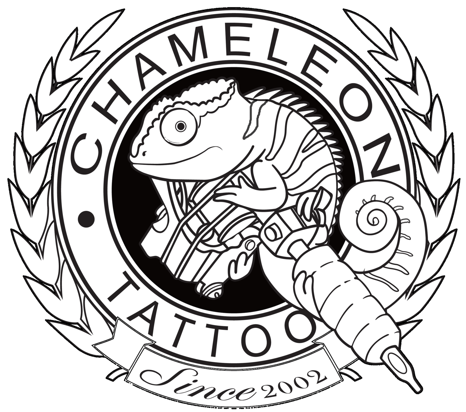 Pascal drawing cameleon. Chameleon tattoo