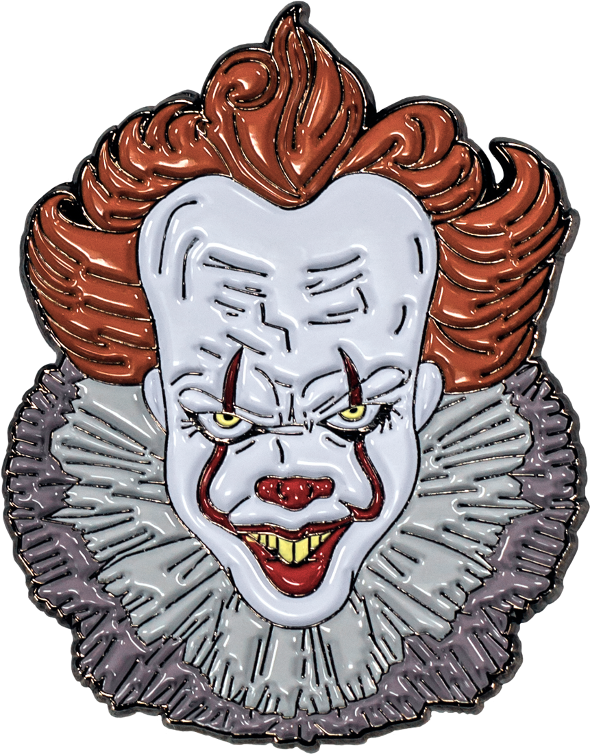 Latest drawing pennywise. It enamel pin by