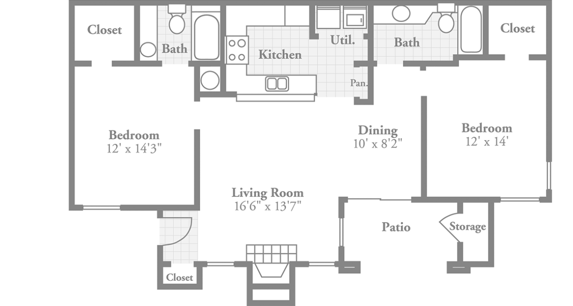Jamestown drawing layout. Executive style apartment crowne