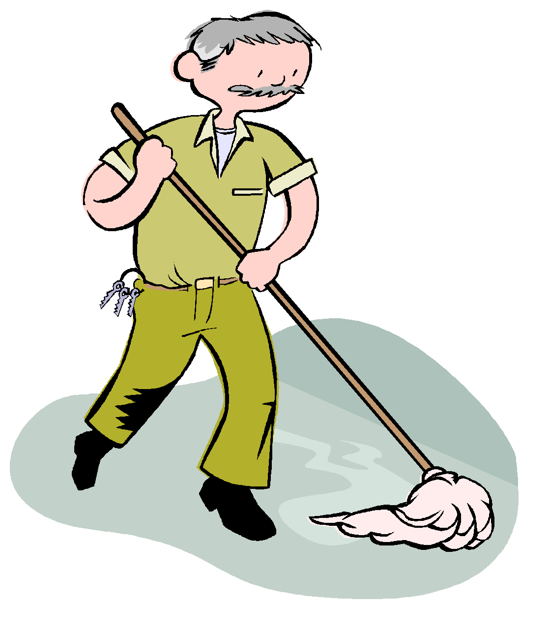 Janitor clipart. Floor transparent free for
