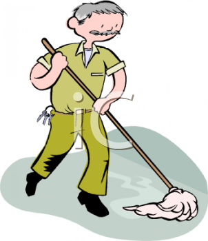 Janitor clipart. Clip art royalty free clipart black and white library