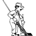 Janitor clipart black and white. Panda free images janitorclipart