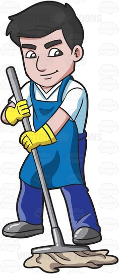 Funny cleaning my clip. Janitor clipart kid svg freeuse