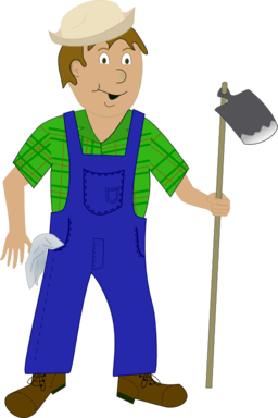 Janitor clipart transparent. Color wheel of farmer
